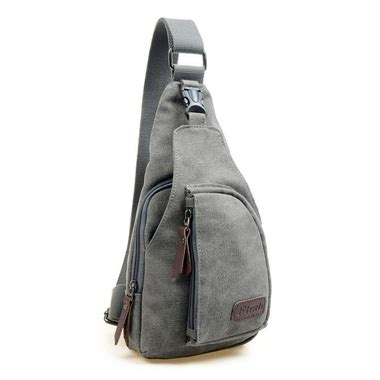 Casual Selempang tas selempang kasual bahan canvas gray jakartanotebook