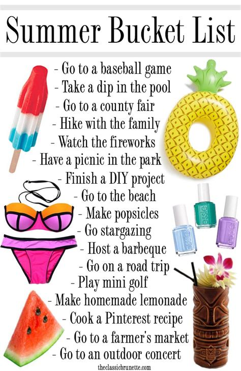 cool things in 2016 the ultimate summer bucket list for 2016 summer bucket