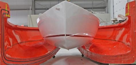boat mold plug for sale inside view the new j 88 takes shape boats