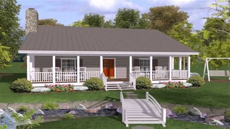 ranch house plans with front and back porch youtube luxamcc