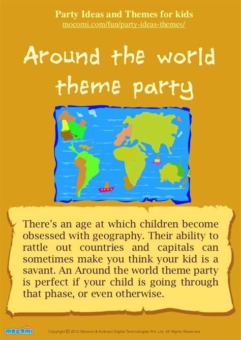 themes slideshare around the world theme party for kids mocomi com