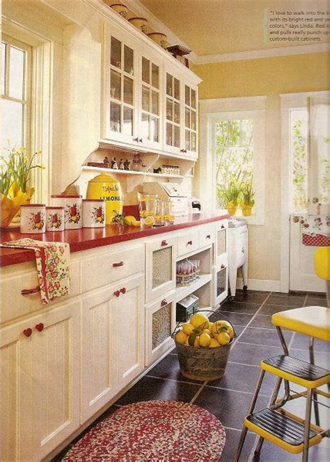 yellow and red kitchens cottage kitchen love red and yellow kitchens pinterest