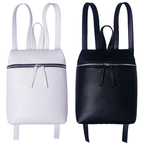 Dual Brown White Tas Fashion Korea Import Unisex Ransel Casual white leather backpack promotion shop for promotional white leather backpack on aliexpress