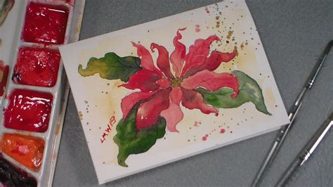 watercolor tutorial christmas watercolor poinsettia tutorial youtube
