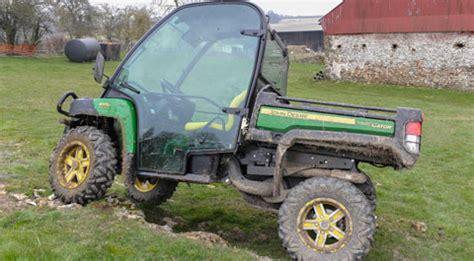 farm buggy test john deere gator  farmers weekly