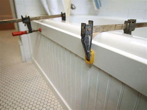 diy bathtub surround update a bathtub surround using beadboard jazz