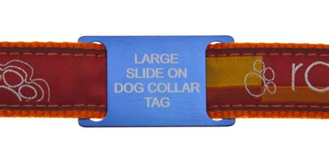 tag on collar large slide on pet id tags ideal for working agility dogs