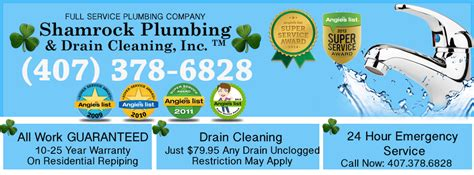 Plumbing Orlando by Shamrock Plumbing Drain Cleaning Inc Plumbing In 4625