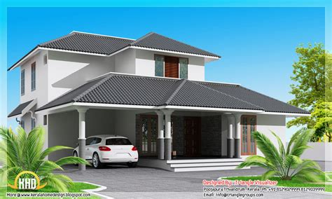 house roof designs in india square feet modern sloping roof house square feet bedroom contemporary kerala villa