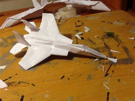 How To Make A Eagle Out Of Paper - how to make the f 15 eagle paper airplane