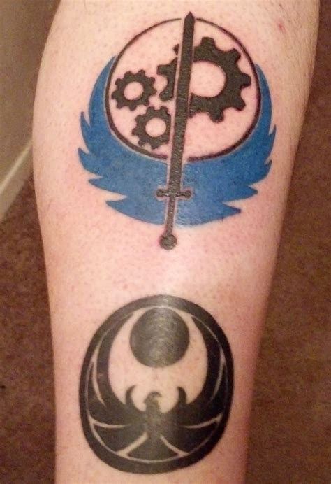 brotherhood of steel tattoo brotherhood of steel by theosidle on deviantart