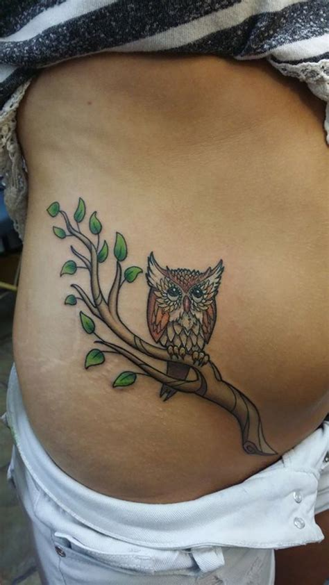 tribal belly tattoos owl on a branch belly best design ideas