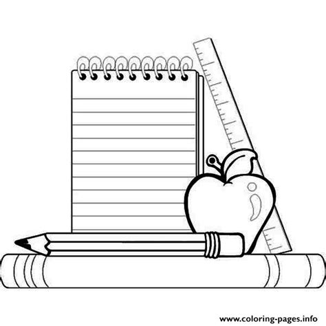 coloring pages of school stuff school supplies coloring pages printable