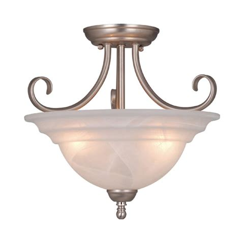 Cascadia Lighting 3 Light Babylon Semiflush Semi Flush Lowes Ceiling Lights Chandeliers
