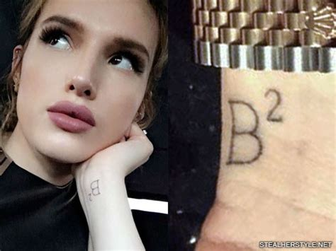 bella thorne tattoo thorne b 178 squared wrist style