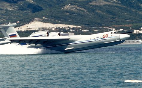 russian flying boat jet comfortable at sea and in the air gigantic flying boats