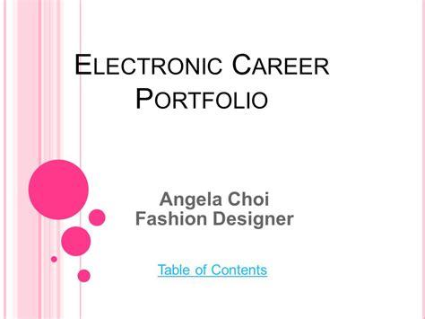 electronic career portfolio ppt