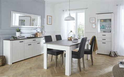 salle 224 manger contemporaine coloris blanc marron rubio