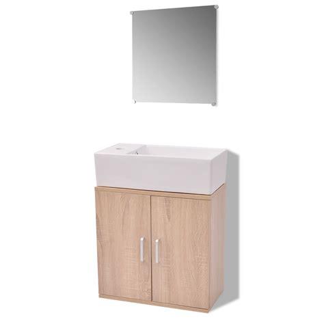 Badezimmergarnituren 3 Tlg by Der Vidaxl 3 Tlg Badm 246 Bel Und Waschbecken Set Beige