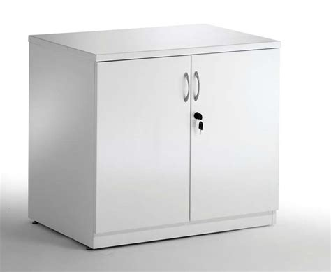 White Cupboard Gloss White Desk High Office Cupboard