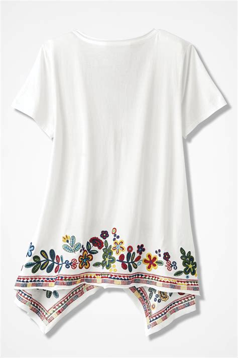 top swinging sites fiesta embroidered swing top coldwater creek