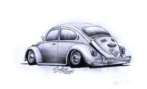 volkswagen bug drawing vw beetle by sofianetouati on deviantart