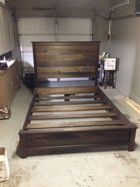 how to make a wood bed frame 25 best ideas about diy bed frame on pallet