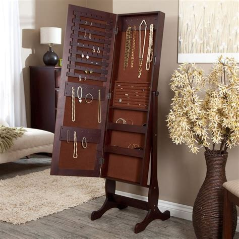 espresso jewelry armoire cheval mirror 10 images about jewelry boxes on pinterest wall mount