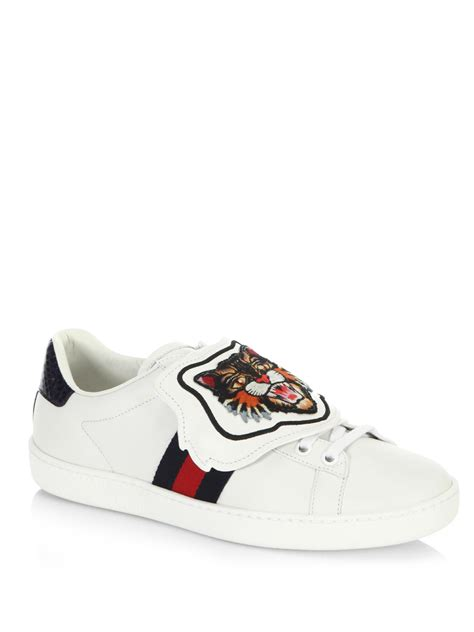 Shoes Gucci D2531 1 lyst gucci new ace sneakers with patch in white