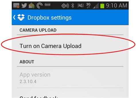 dropbox turn on document in setting how to upload android files to dropbox