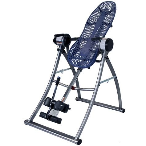 inversion bench the motorized inversion table hammacher schlemmer