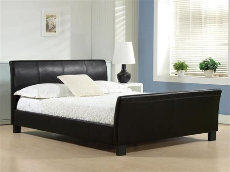 black beds celine faux leather bed in black or brown colours