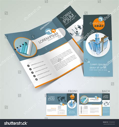 3 fold flyer template professional business three fold flyer template corporate