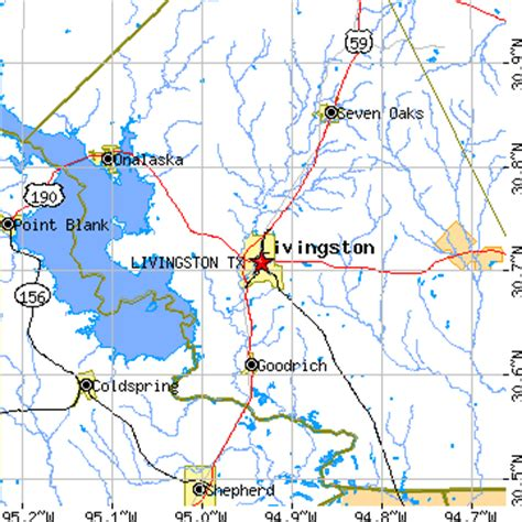 livingston texas map livingston texas tx population data races housing economy