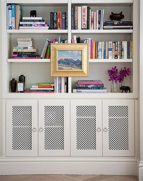 Vented Doors Great Idea For Housing Speakers Where You Great Bookshelves