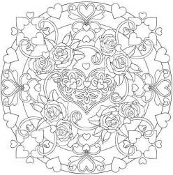 mandala coloring pages hearts hearts doodle coloring pages