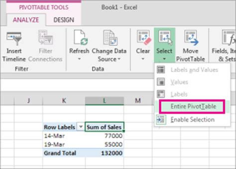 How To Remove A Pivot Table by Delete A Pivottable Excel