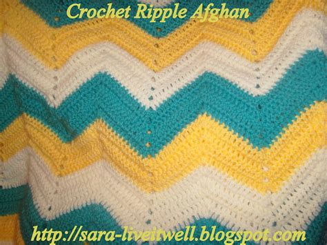 pattern crochet ripple afghan live it well crochet ripple afghan