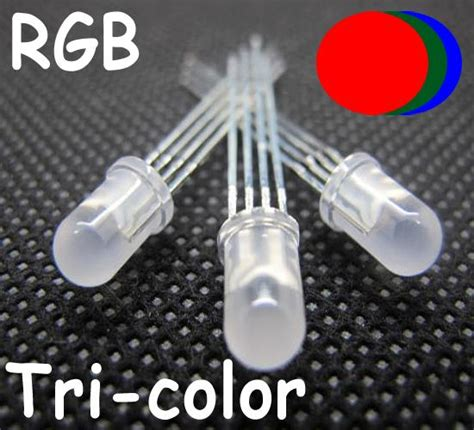 led cathode et anode 100 x 5mm 4pin tri color diffused rgb common cathode green blue led ebay
