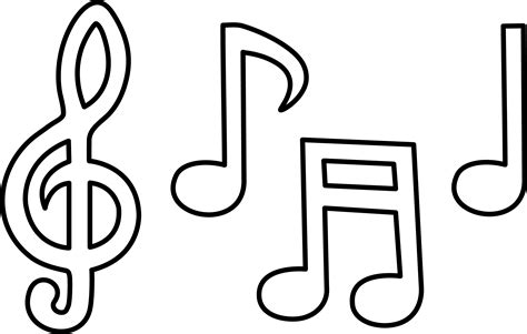 printable clip art free printable music note coloring pages for kids music