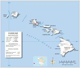 usa map hawaii state detailed map of hawaiian islands