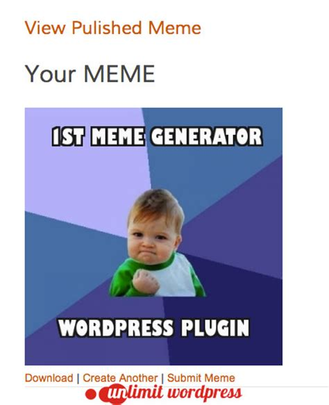 Meme Word Generator - meme generator wordpress plugin by jordanbanafsheha
