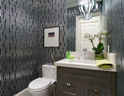 black and silver bathroom wallpaper 20 designs of stylish bathroom wallpapers home design lover