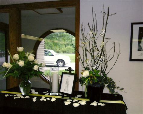 memorial table for funeral memorial table at class reunion class reunion ideas