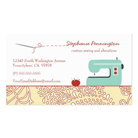 free seamstress business card templates free business card templates sewing image collections