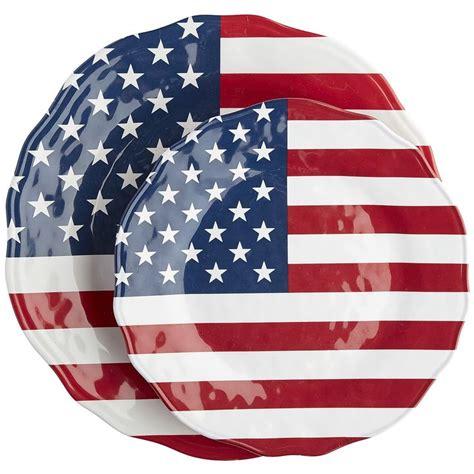 multi colored dishes multi colored american flag dinnerware dinnerware