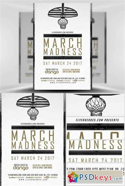 flyer templates for your march madness party