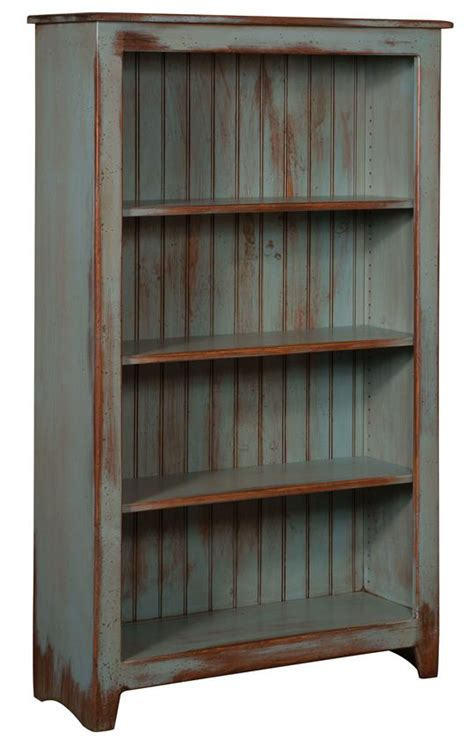 primitive pine wood bookcase from dutchcrafters amish