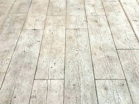 Stamped Concrete That Looks Like Wood Wood Stamped
