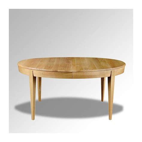 table en bois ovale moderne avec allonges 4 pieds